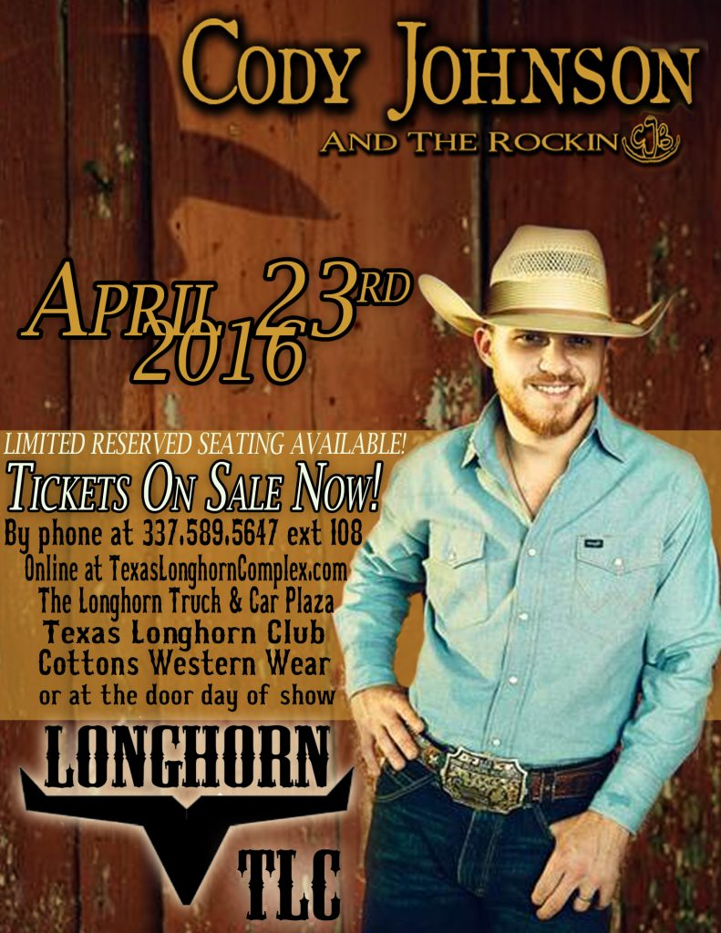 Cody Johnson 2016 flyer