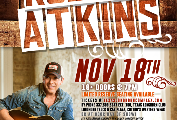 RODNEY ATKINS live at the Texas Longhorn Club!